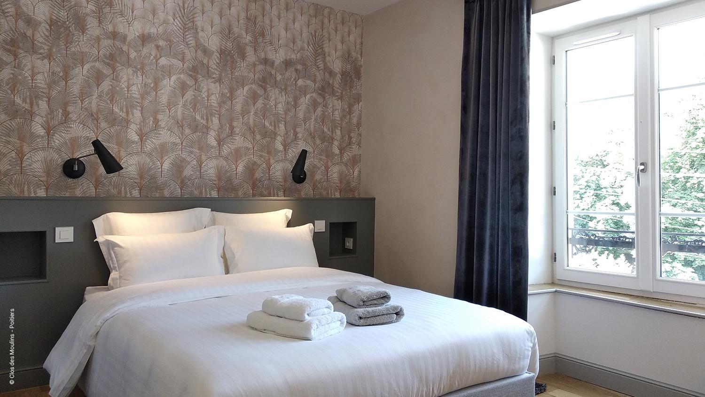 Chambre double ambiance végétale-Clos des Moulins - Poitiers