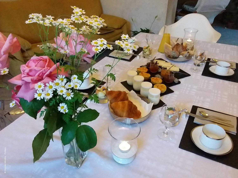 Petit-dejeuner au Clos des Moulins - Poitiers