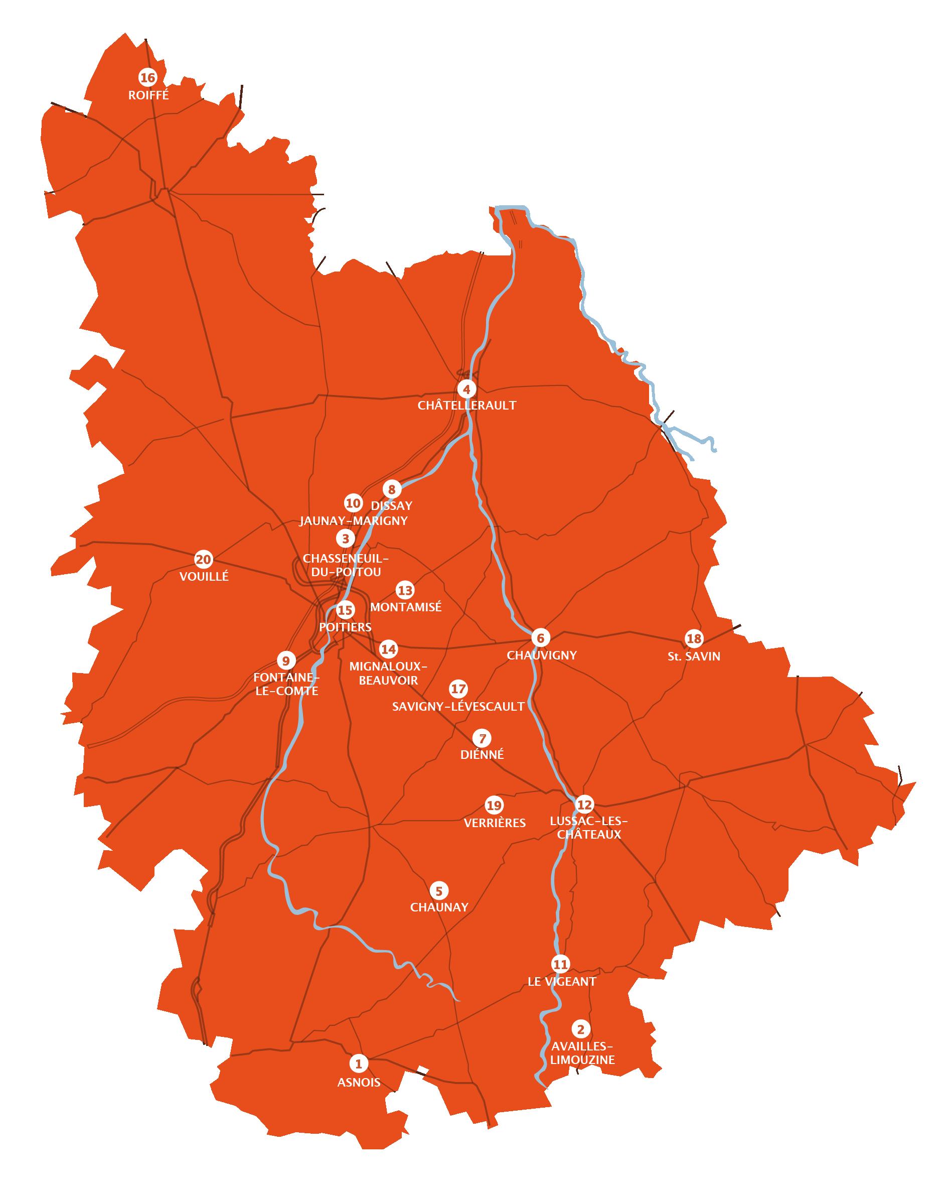 carte des lieux accueillants les concerts du festival Musik en suites